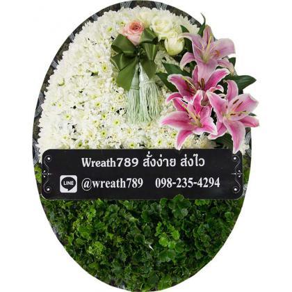พวงหรีดดอกไม้สด B7