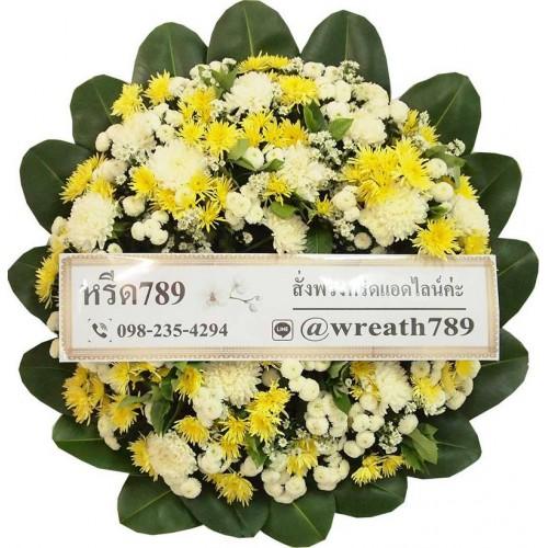 พวงหรีดดอกไม้สด B15