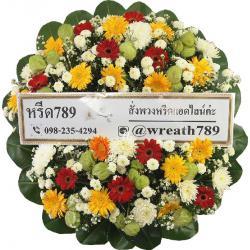 พวงหรีดดอกไม้สด B1514