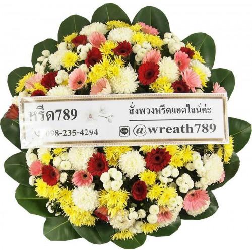 พวงหรีดดอกไม้สด B16